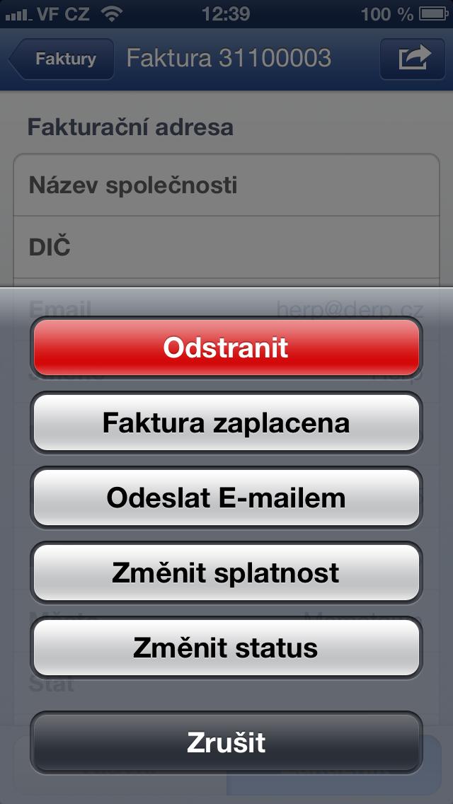 fakturace na Flox app