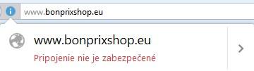 nezabezpečené webové stránky