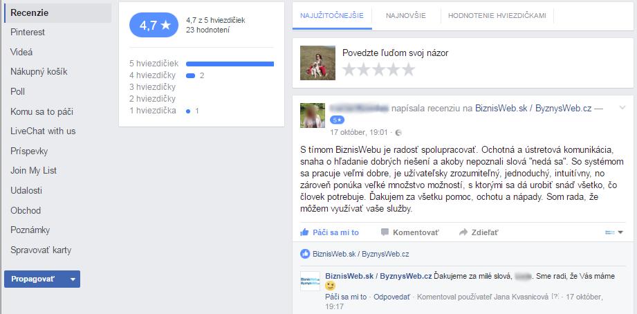 Facebook - skvělý nástroj pro budování důvěryhodnosti
