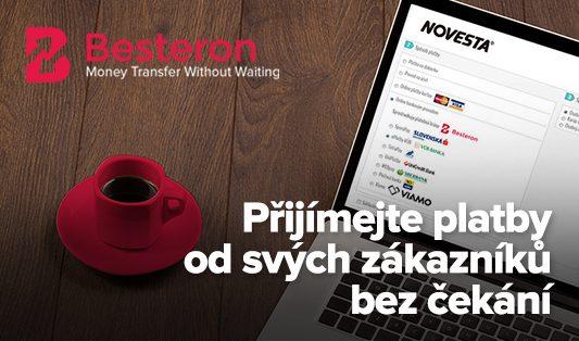 Besteron - nová, rychlá platební možnost pro slovenské zákazníky