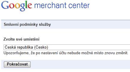 registrace na google nákupy