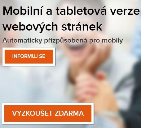 oranžové Call-to-Action buttony na webu ByznysWeb.cz