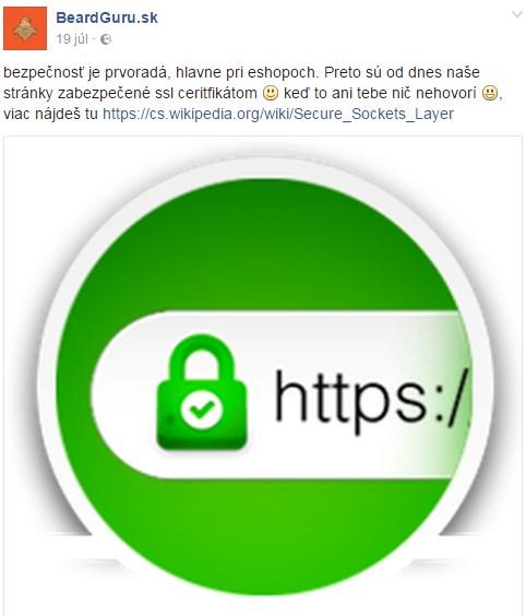 ssl certifikát pro webové stránky nebo e-shop