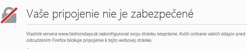 nezabezpečené webstránky