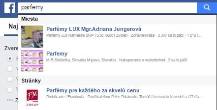 Facebook jako vyhledávač