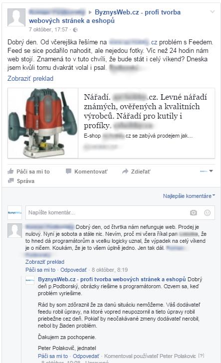 i negativní komentáře a příspěvky na FB mají svůj význam