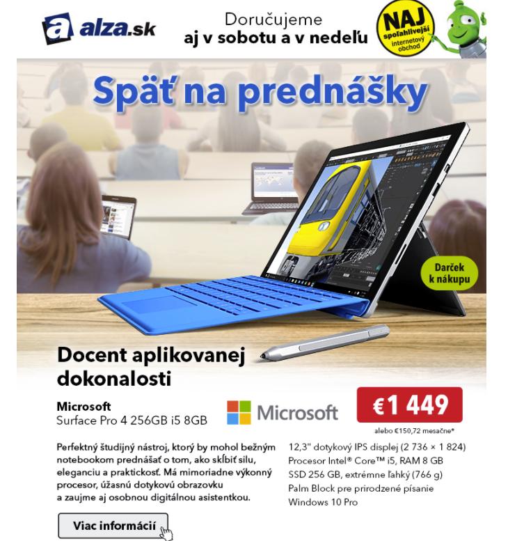 nepersonalizovaná nabídka od ALZA.sk