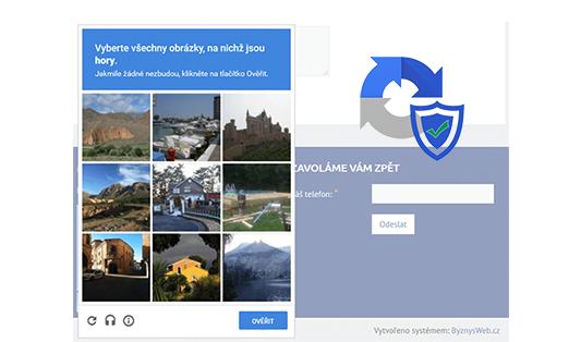 ochrana formulářů reCAPTCHA