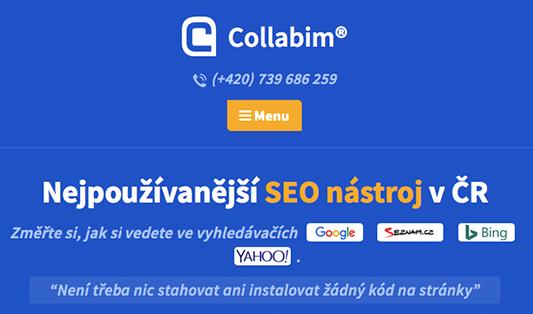 recenze SEO nástroje Collabim od originalnehracky.sk a jutro.sk
