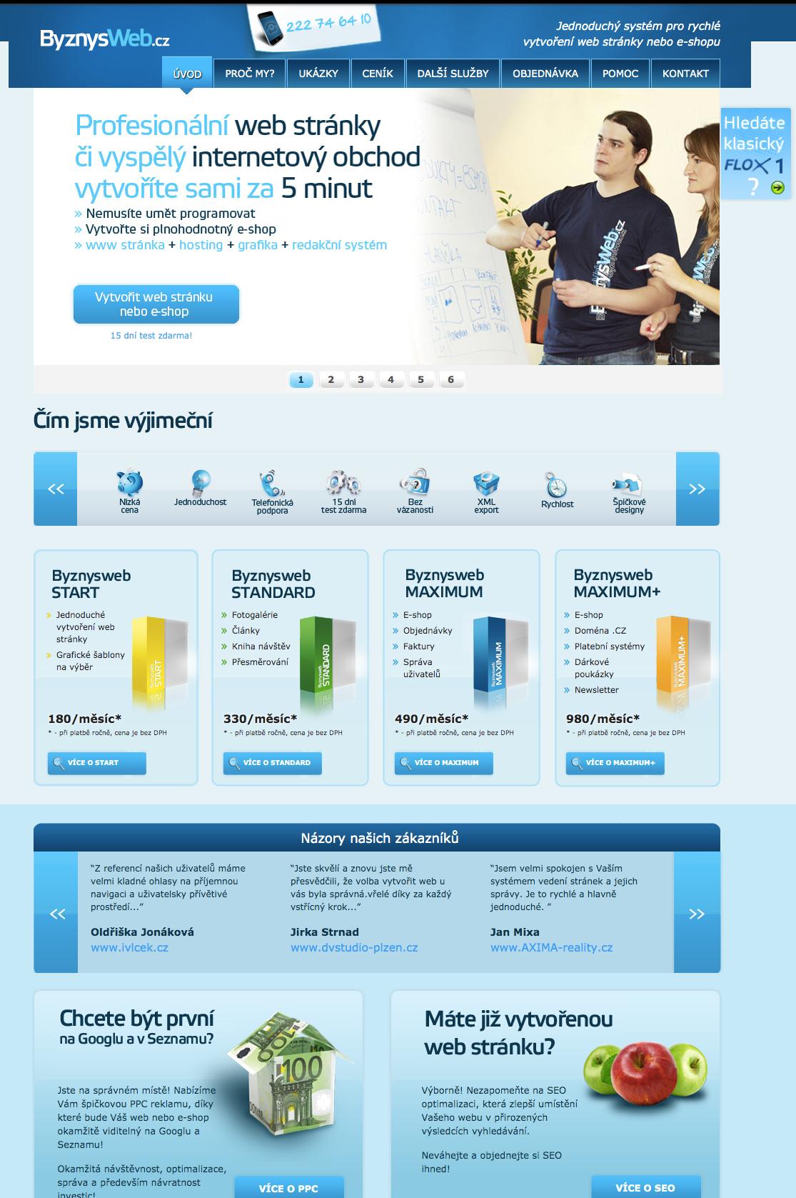 design ByznysWebu v roce 2013
