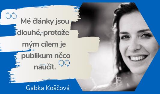 jak napsat dobrý SEO článek - rozhovor s Gabkou Koščovou