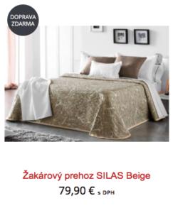 žakárové přehozy na postel
